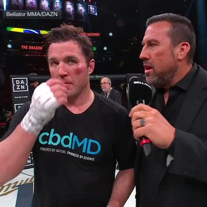 Say goodbye to The Bad Guy  👋 @ChaelSonnen (via @BellatorMMA)