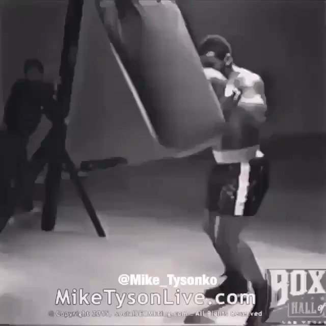 I really can't believe people used to willingly a fight Mike Tyson man.