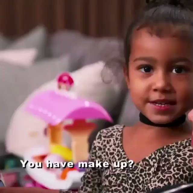 I love this little clip of North and Kim. North was so small! Happy 6th Birthday to North West! 💜🎉✨