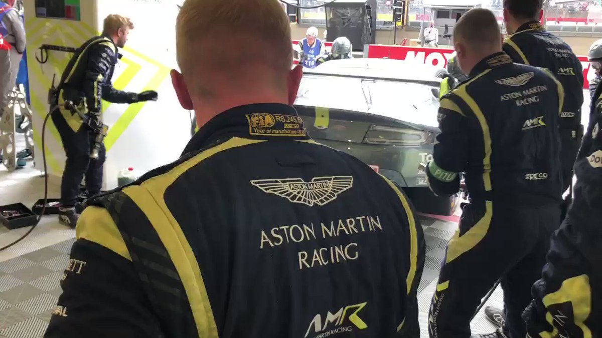 It's been an eventful couple of hours so far... we are P13 with the #95 and @Marco_sorensen is now in the car while @alexlynnracing and the #97 is P17. The #98 GTE Am has returned to the track after a lengthy stop to investigate a power steering issue.  #AstonMartin #VantageGTE