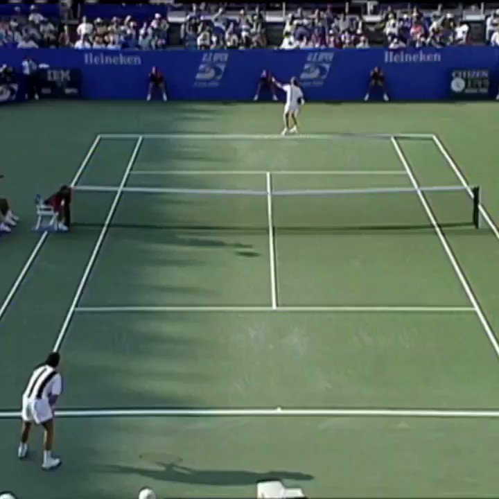 US Open Vault: A wild point concluded with a bullet down the line from the legendary Stefan Edberg... 🇸🇪🎾🔥