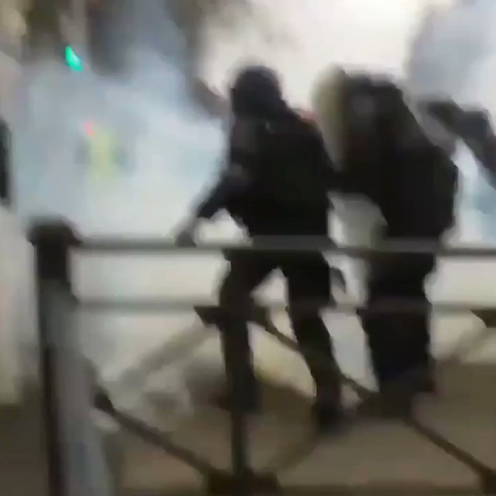 WATCH | This is the European Union in 2019: protestors tear-gassed and beaten by French police for opposing Brussels golden boy Emmanuel Macron. How this hasnt had more coverage by mainstream media is unforgivable! #Acte31 #GiletsJaunes 🙋‍♂️ Support us at leave.eu/get-involved