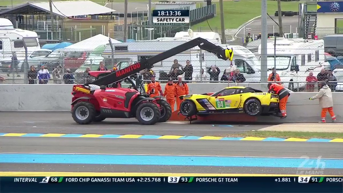 Update: The @CorvetteRacing C7.R is out of the race due to accident damage. This is the first retirement of the #WEC Super Finale.  #LEMANS24 #SuperFinale