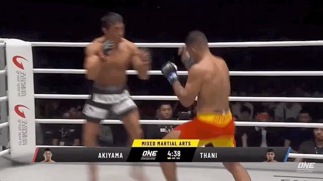 An action-packed @ONEChampionship debut for 'Sexyama' (@akiyamayoshihir) ended in defeat by #AgilanThani in China. The 43-year-old Japanese-Korean star proved he could still mix it at the top with some incredible judo skills! What next for Sexyama? #ONEChampionship #MMA #FPMMA