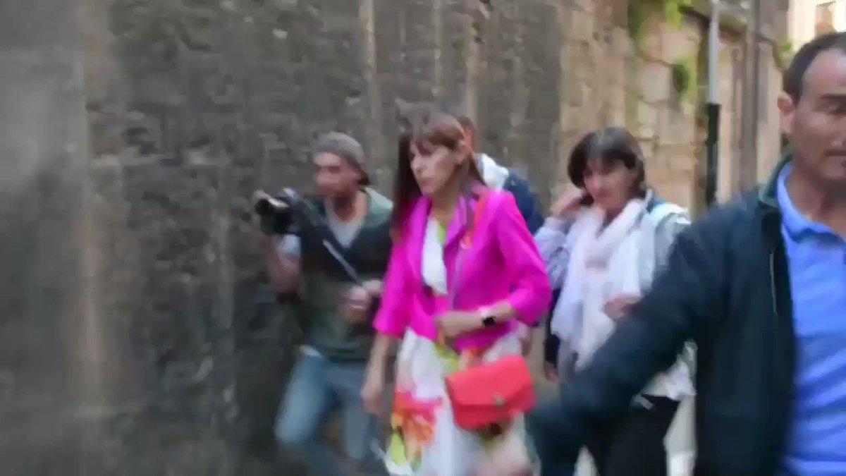 Los maderos de Maite Esporrin de @PamplonaPSN  sacando la porra extensible #15junio    📽️ @julenaperribai