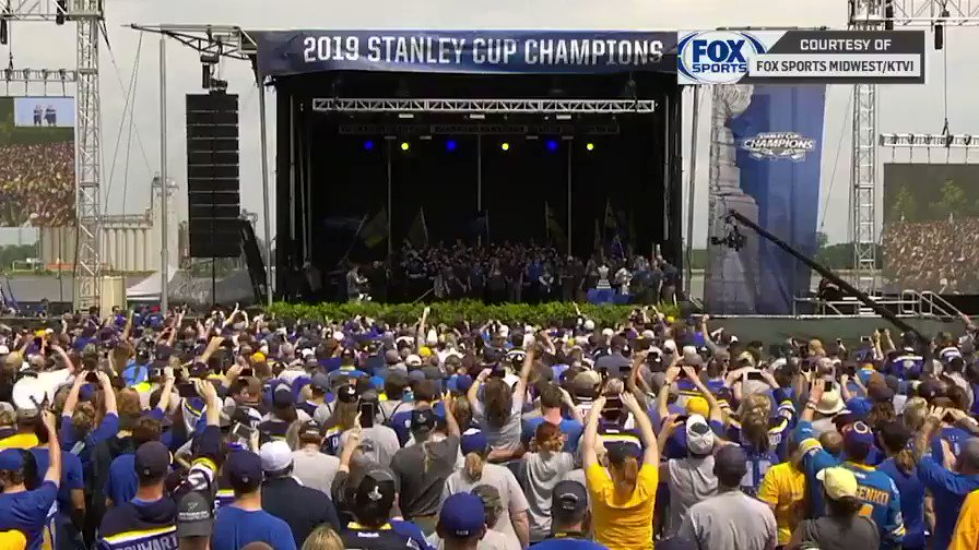 RT @NHL: Your 2019 #StanleyCup champions, the @StLouisBlues! https://t.co/7U5BPdPIj6