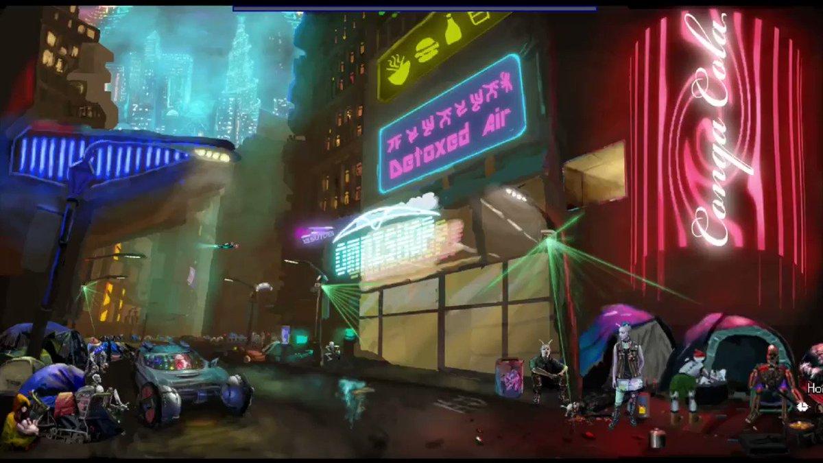 Neofeud 2 devstream starting! Cyberpunk dystopian 2019 update, indie game gems, making cyberpunk PUNK again, etc! https://www.youtube.com/user/twiliteminotaur/live…  #indiedev #indiegame #gamedev #scifi #cyberpunkisnow #steam #adventuregames #visualnovel #indieartist #screenshotsaturday #indiegamedev