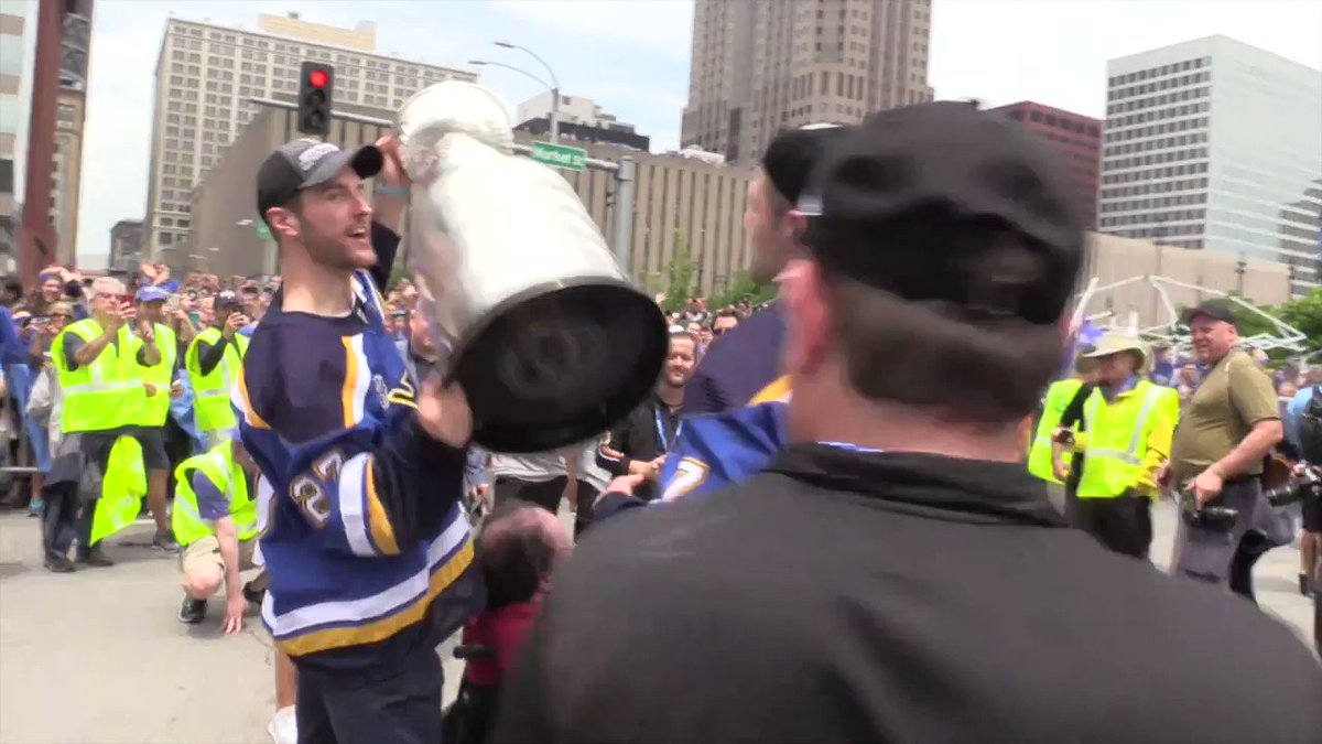 Hes a hometown hero. @patmaroon #STLBlues #BluesParade