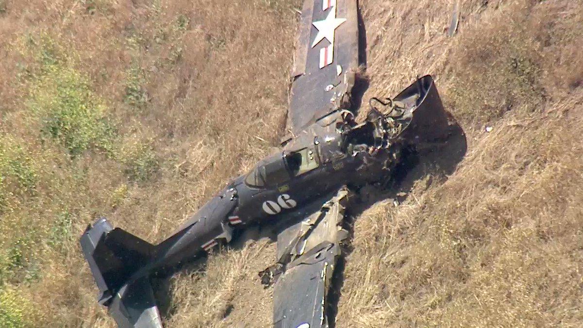 Pilot of vintage warplane killed in Santa Susana Mountains crash near Porter Ranch
