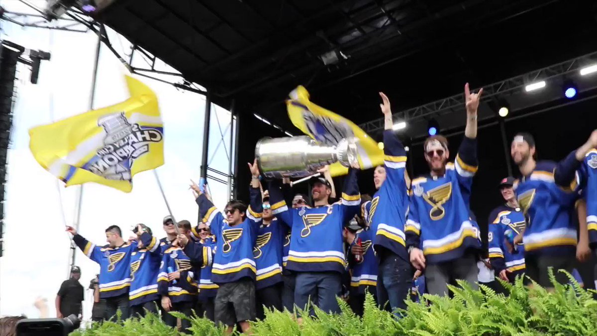 Yes, you ARE THE CHAMPIONS!! #STLBlues #BluesParade #StanleyCupChamps