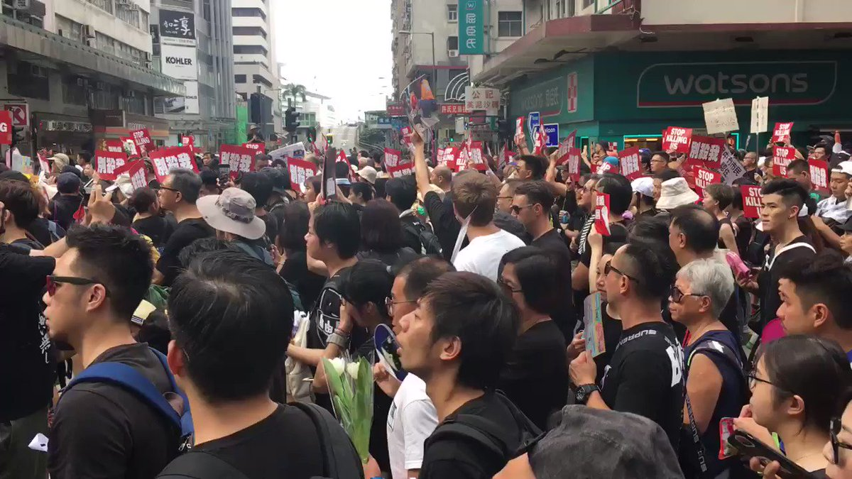 """Protesters chant """"Regina Ip go die,"""" referring to the lawmaker's support of the extradition bill before it was suspended. 👉 In full: http://bit.ly/extraditionhk #notochinaextradition"""