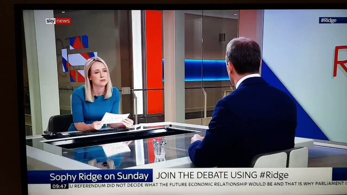 Dominic Raab absolutely nails it here; preparing properly for no deal is not about sticking two fingers up to Brussels its about understanding that unless youre prepared to walk away from the EU we have no chance of getting a better deal. Thats why I am #ReadyForRaab #Ridge