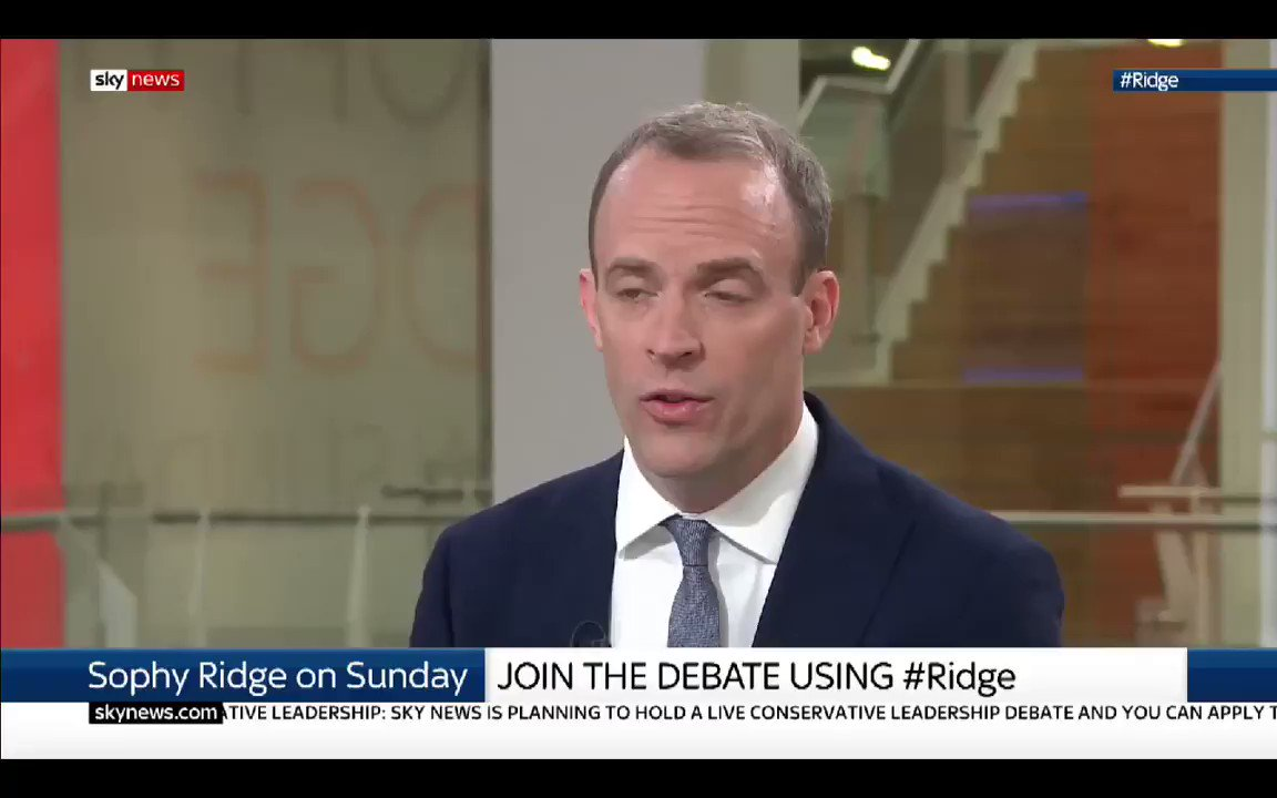 Dominic Raab still wont rule out proroguing Parliament. The Tory Party will be toast if were not out by the end of October #Ridge #marr #PeoplesVote #FinalSay