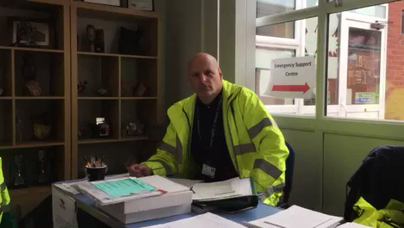 And here's Neil who is managing the Rest Centre at Richmond School in Skegness where those who are unable to occupy their home due to flooding can go.