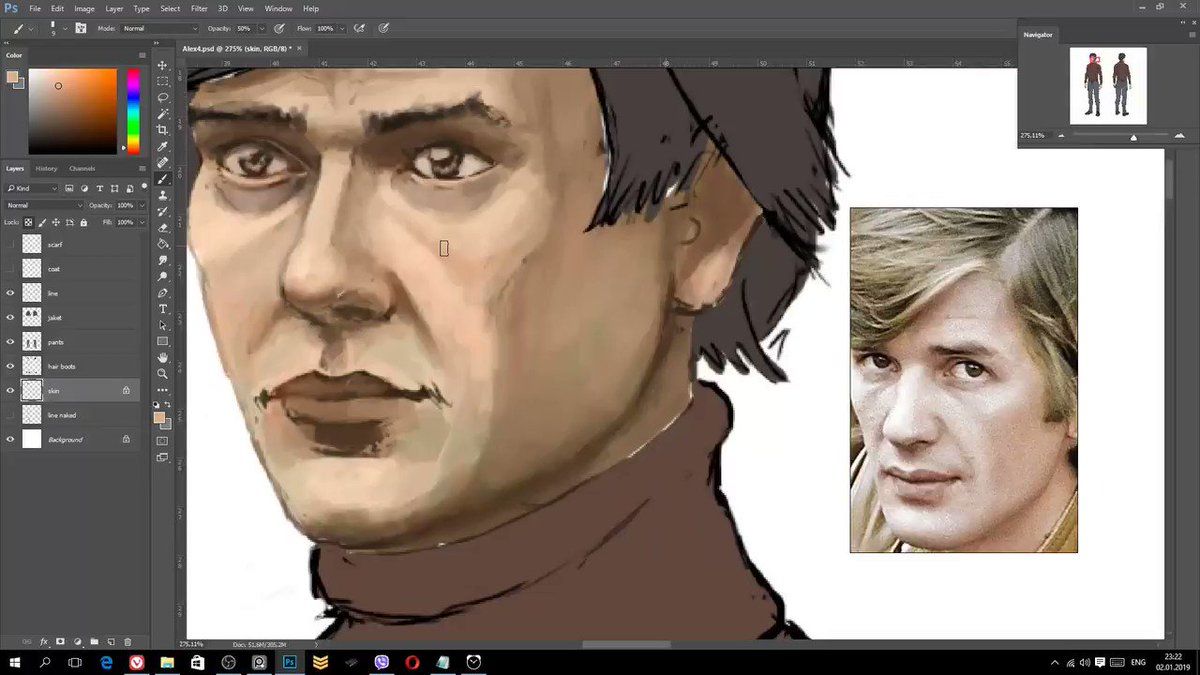 Drawing process of the main character of game The Safe Place. Full video here https://youtu.be/Xwb8RUXebW8 #SafePlaceGame  #LittleKiteGame  #gamedev #indiedev #indiegame #indie #2d #AdventureGame #pointandclick #digitalart