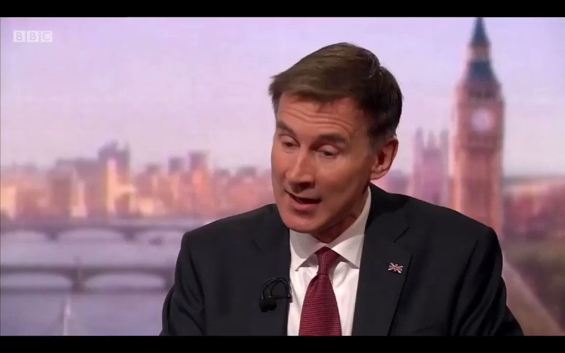 Image for the Tweet beginning: Jeremy Hunt talking bollocks -