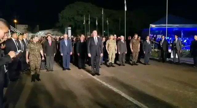 Marchando na Cerimônia comemorativa ao 218º aniversário de nascimento do Marechal Emilio Luiz Mallet, patrono da arma de artilharia do Exército Brasileiro, em Santa Maria/RS.
