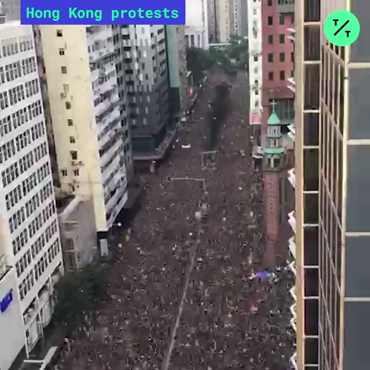 UPDATE: Organizers estimate about 2 million people marched in today's protests against the controversial China-backed #ExtraditionBill #HongKongProtest #香港 #反送中