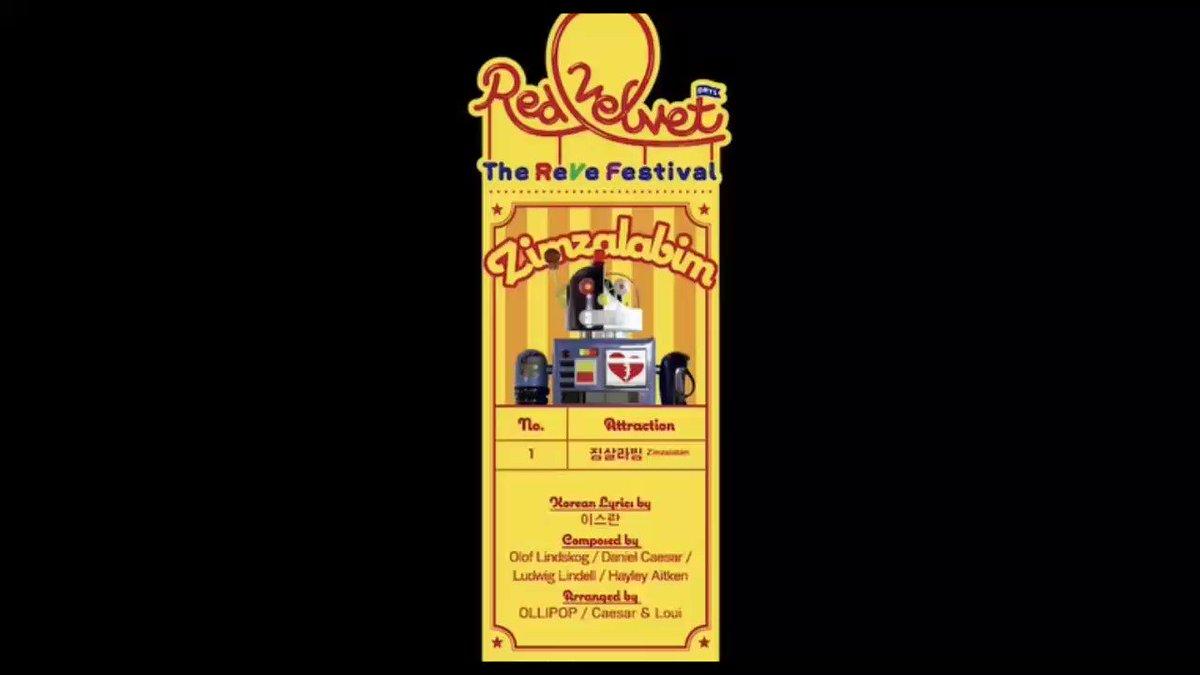 Teaser title track #Zimzalabim untuk comeback @RVsmtown #TheReVeFestivalDay1. Track list album ini adalah: 1. Zimzalabim 2. Sunny Side Up! 3. Milkshake 4. Bing Bing 5. Parade 6. LP Info: @ReVeluvNESIA #TheReVeFestivalD3 #REDVELVET
