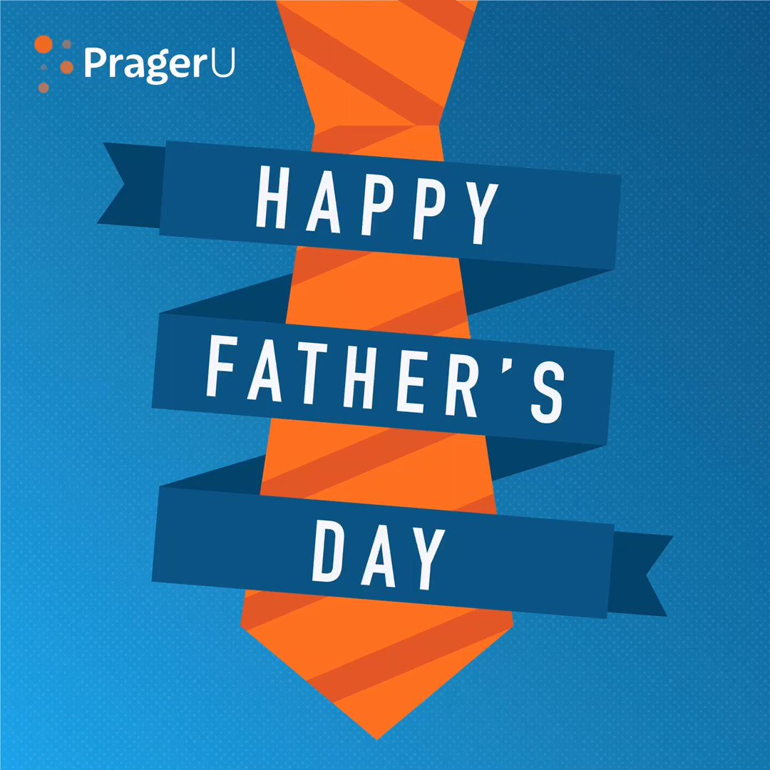 RT prageru: We love you, Dads! Happy Father's Day. 💙🧡  #pragerforce #prageru #prageruniversity #prager #dennisprager