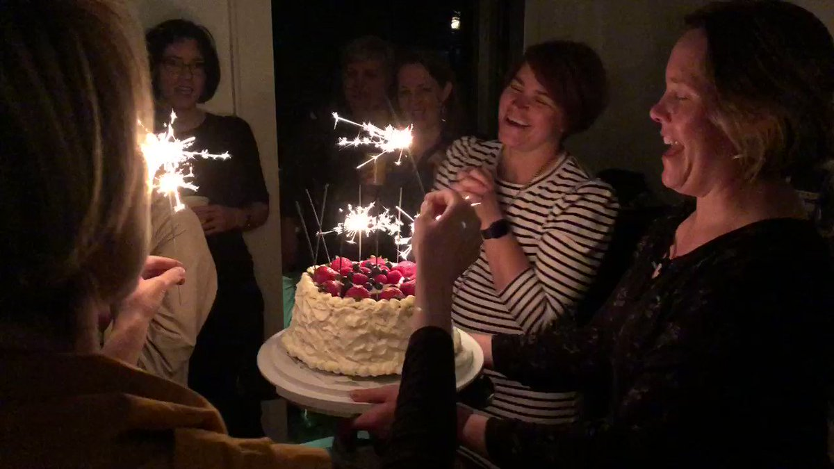 Am glad (but a little disappointed) we persuaded @JDrinjakovic not to put bottle rockets on her cake. https://t.co/FEoAqBawmW