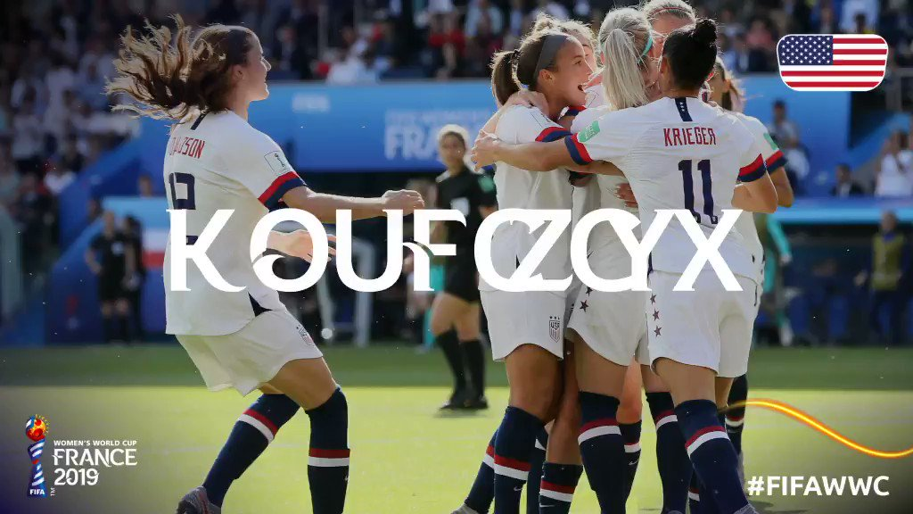 Congrats, @USWNT! 🇺🇸 See you in the Round of 16! #FIFAWWC