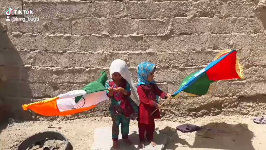Two girls in Balochistan celebrating Indias history over Pakistan in cricket #WorldCup2019