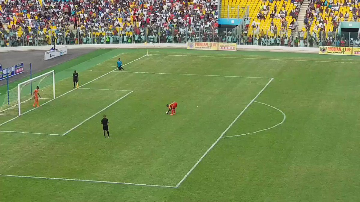 The best penalty of the day.  Abubakar Camara of Hearts. Kotoko players actually protested this, briefly