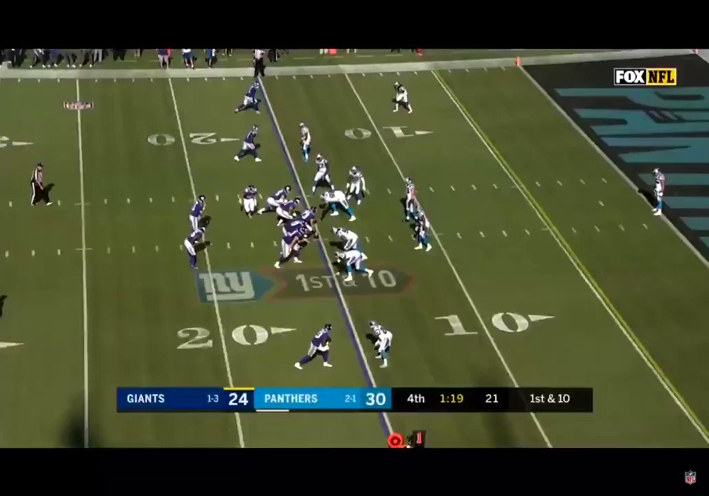 But before that horrible ending to that game, here's the TD that took the lead. Great block by Ellison that allowed Barkley to score.  One of the many times Saquon took flight this year. https://t.co/ge9pTJZen6
