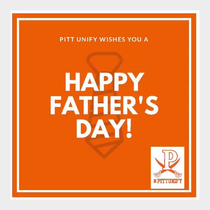 Happy Father's Day to our supportive dads out there! 🖤🧡Hope you have a terrific Sunday.  #fathersday #inclusionrevolution #pittunify #playunified #choosetoinclude #inclusion #acceptance #respect #friendship @PittsburgUSD