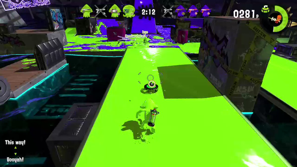 This would have been sick if I had gotten a kill with the Stingray, too.  Covering both ends of the map! #Splatfest #Splatoon2
