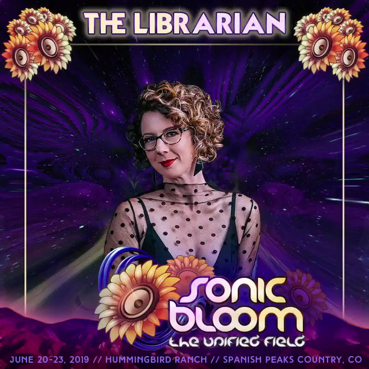 Shhhh!! The Librarian is coming! #SONICBLOOM #TheLibrarian @LibrarianMusic https://sonicbloomfestival.com/the-librarian/