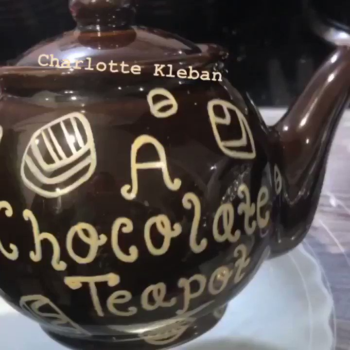 "As much use as a...😉🍫☕️ I loved creating this fun design! 5⭐️ ""Fantastic! Completely personal and unique. Charlotte made the process so easy -great communication and the final result was spot on. My friend loved her present."" ~ Stacey, #Etsy 🧡 #teapot #chocolateteapot #tea"