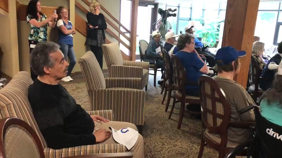 """Of the books @TyquanLewis4 read to patients with dementia, this is one is written by former @colts head coach @TonyDungy, """"You Can Do It!"""" The defensive lineman visited American Village on Monday afternoon and volunteered in college visiting similar care centers. #Colts"""
