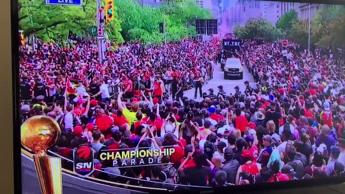 Masai Ujiri not giving a flying f*ck who Doug Ford is just made my day.   #onpoli #DougFord #RaptorsParade #Raptors