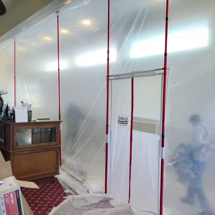 Image for the Tweet beginning: ZipWall® in Retail – This