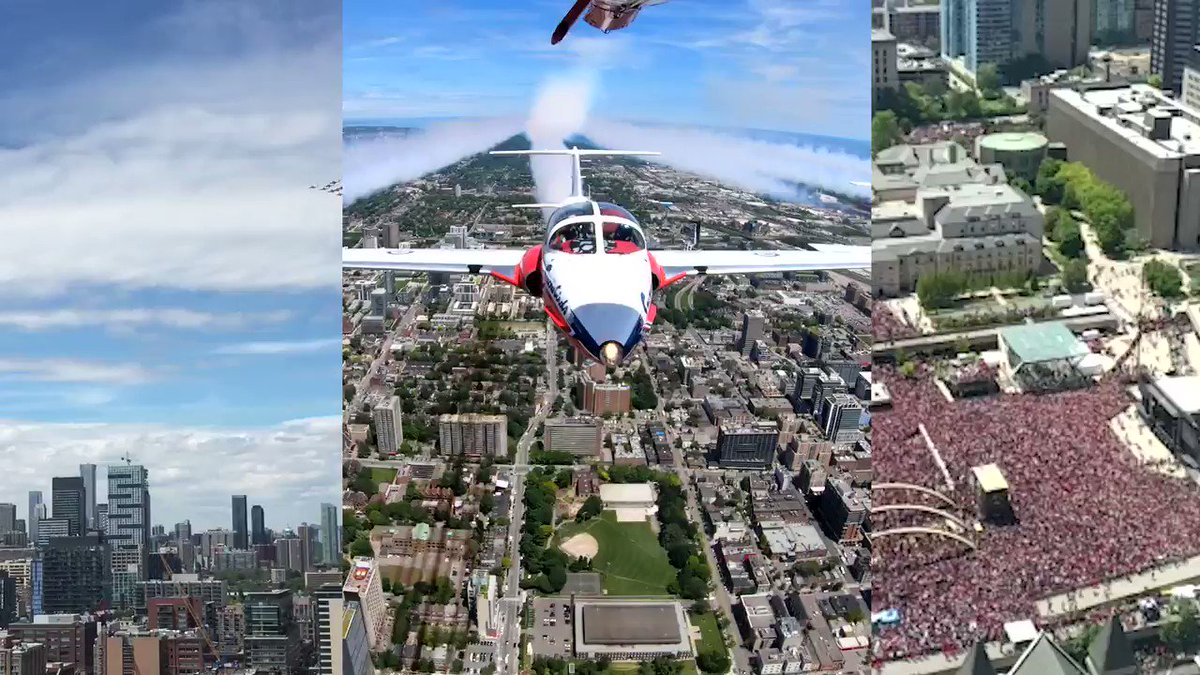 Started from the bottom, now we're here...    #Toronto #WeTheNorth #CFSnowbirds #RCAF #RaptorParade #WeTheChamps #WeTheNorthDay #NBA #NBAChamps @Raptors @Drake #raptorsparade