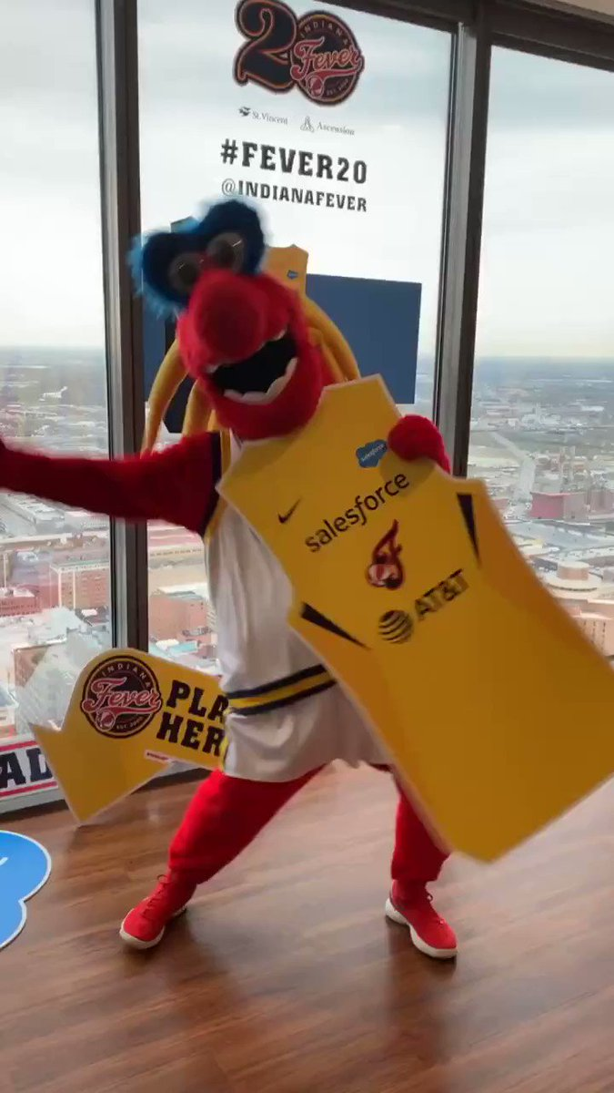 Happy #NationalMascotDay to our very own @FreddyFever!! 🔥   #Fever20 #AllForLove