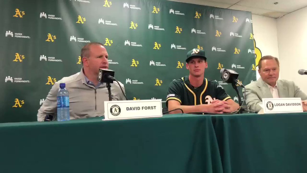 Davidson excited about opportunity with A's