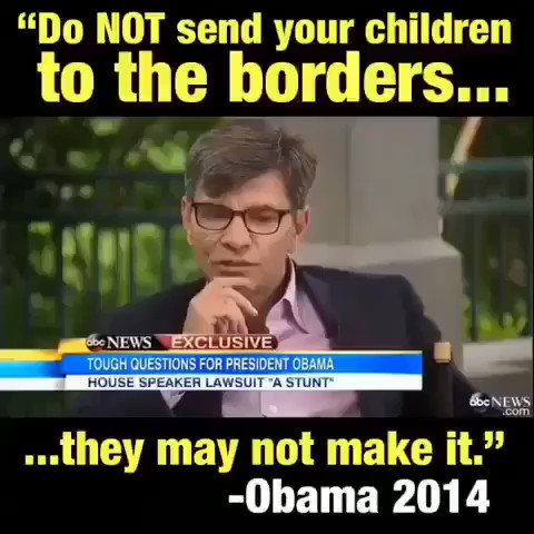 """DO NOT Send Your Children To The Border. .They May Not Make It"" Barack Hussein June.26.2014 #BorderCrisis #Deport #SexTrafficking #HumanTrafficking #AmericanChildrenFirst #TuesdayThoughts #WednesdayMotivation #FlashbackFriday #SaturdayMorning Twitter StopCensoring my account"