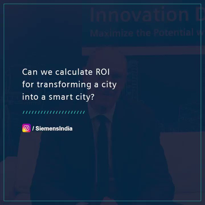 Can we calculate #ROI for transforming a city into a #smartcity? Watch the response to this #AMA question by Dr. @BuschRo, COO & CTO, @Siemens AG. #InnoDayIndia 2019 #SmartUrbanInfrastructure