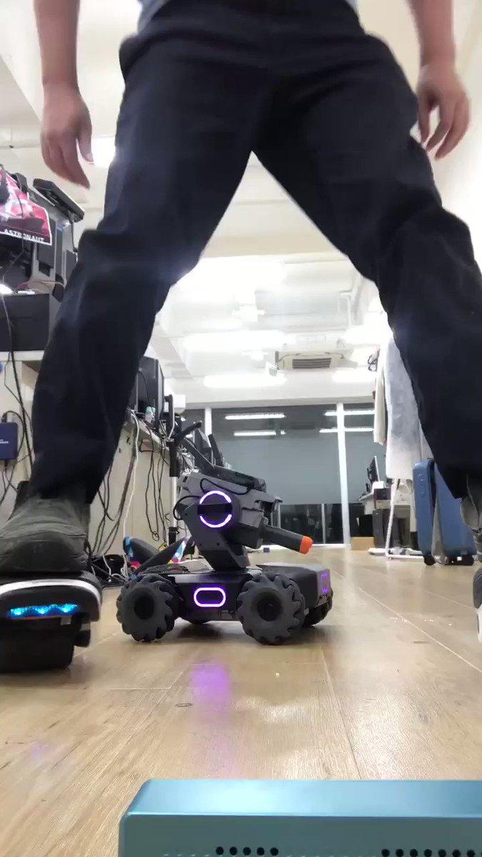 ロボットとダンスしてみた  Segway Drift W1 + #RoboMasterS1