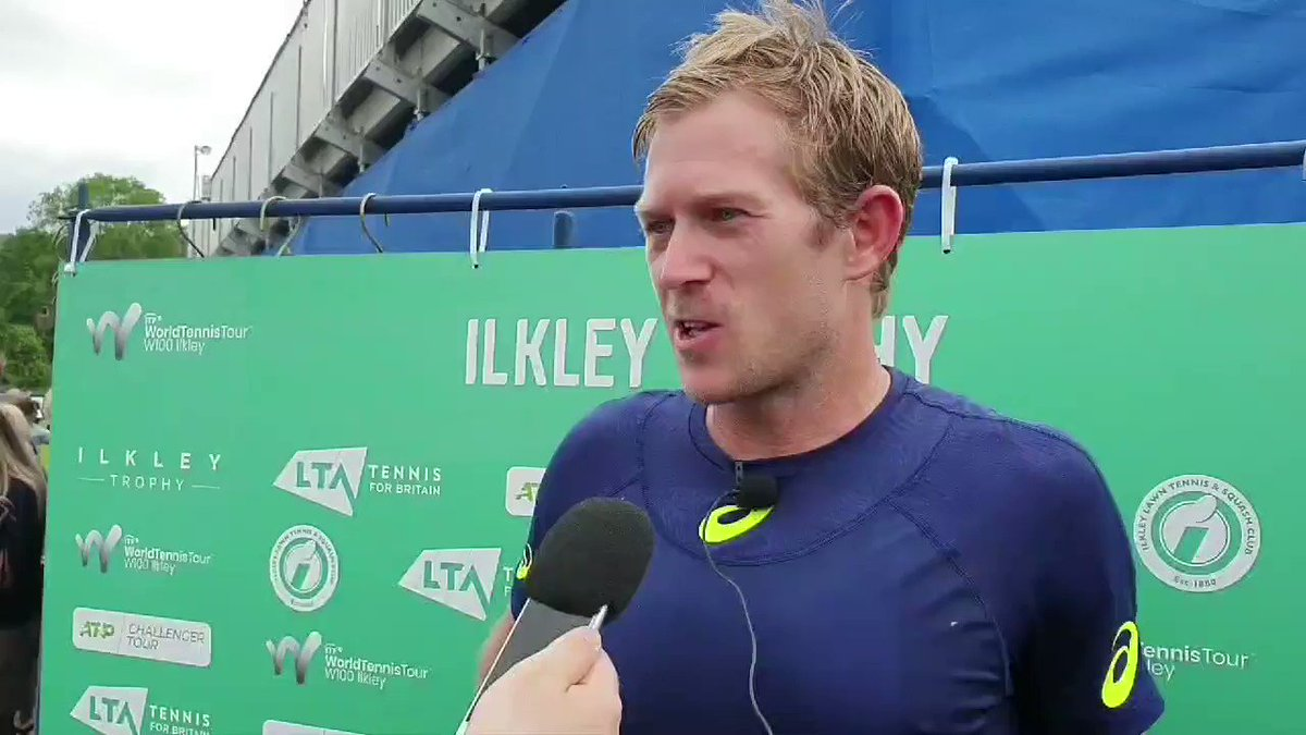 With one Brit sneaking behind the camera onto centre court, another has left the court victorious. @klein_brydan, from one set down, once again comes out with the win. He gives his analysis #ilkleytrophy #backthebrits 🇬🇧