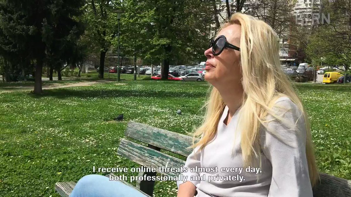 🎥 WATCH | Bosnian journalist Arijana Saracevic Helac receives both personal and professional attacks on a nearly daily basis.  She says 70% of the threats are of that of rape.  More: http://bit.ly/2Fh3SYN  #FemaleJournalists