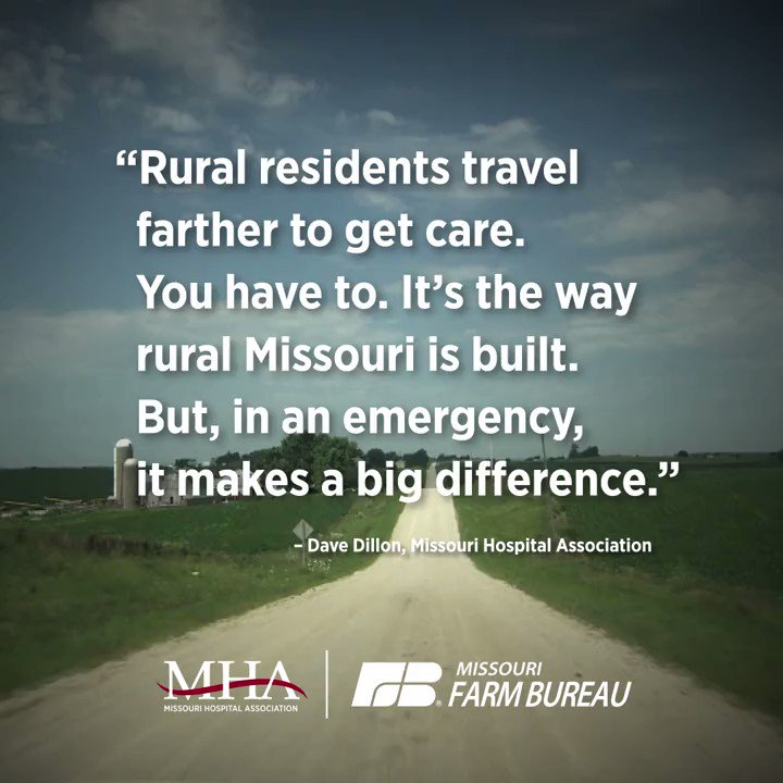 Access to quality rural health care is vital to farmers and rural Missourians. ⬇️