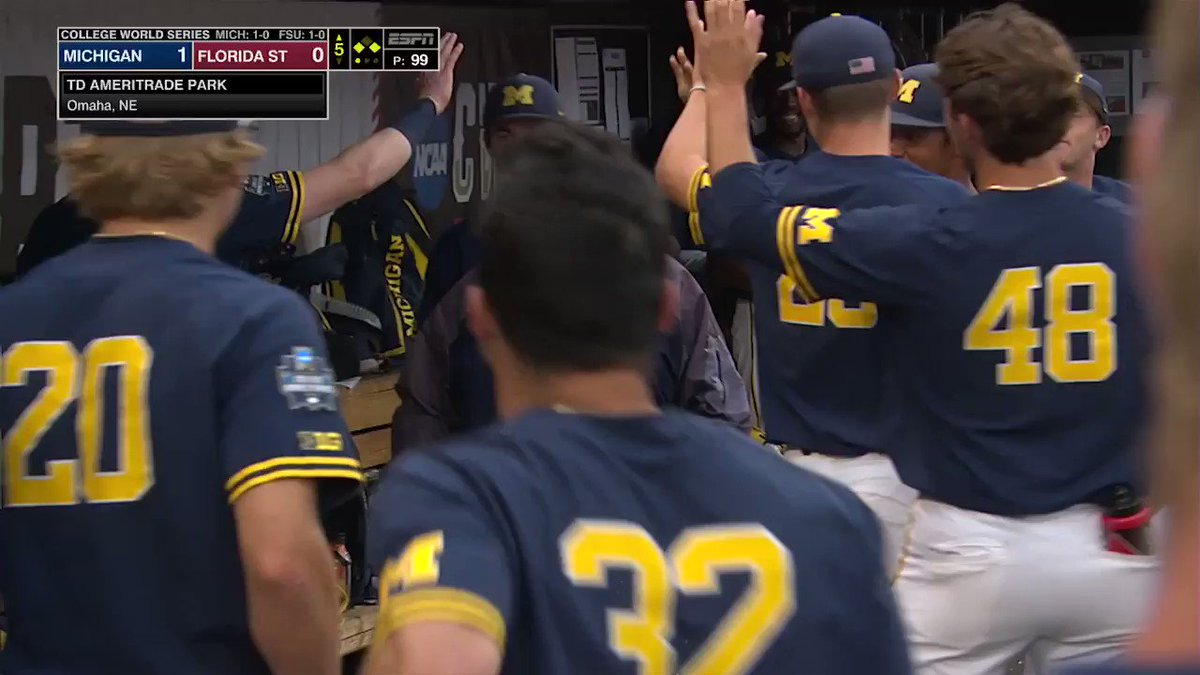 RT @umichbaseball: NOT TODAY! 🚫✋  😂 We love Kim! Best athletic trainer in ⚾️ #GoBlue〽️ | #CWS https://t.co/Y7J8p8jXLx