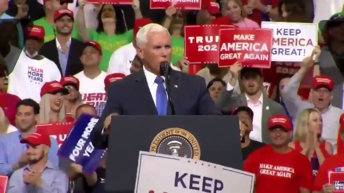 "Vice President Mike Pence: ""Mexico has done more to secure our border in the last ten days than the Democrats in Congress have done in the last ten years."" #TrumpRallyOrlando"