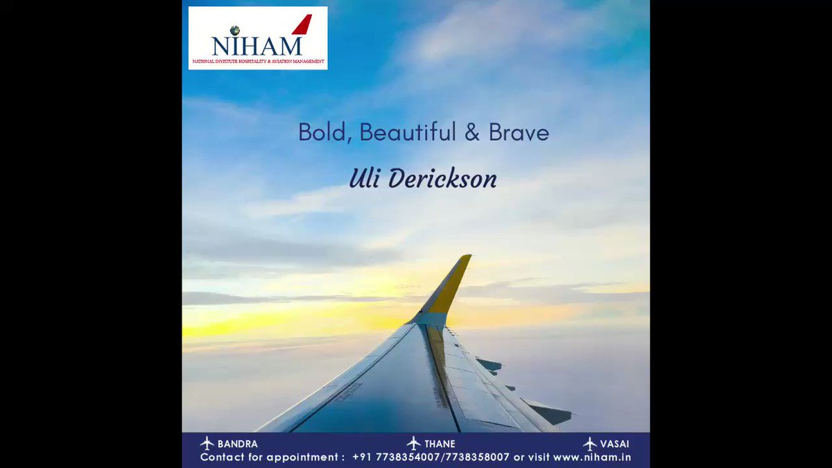 Monthly Inspiration from the Aviation field - Uli Derickson #bandra #thane #vasai #india #hospitality #management #training #institute #aviation #careers #counselling #flyingcareers #cabincrew #groundstaff #enrollnow #hsc #graduates #flightattendant #monthlyInspiration
