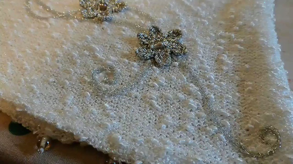 White and silver... #knitwear #crochet