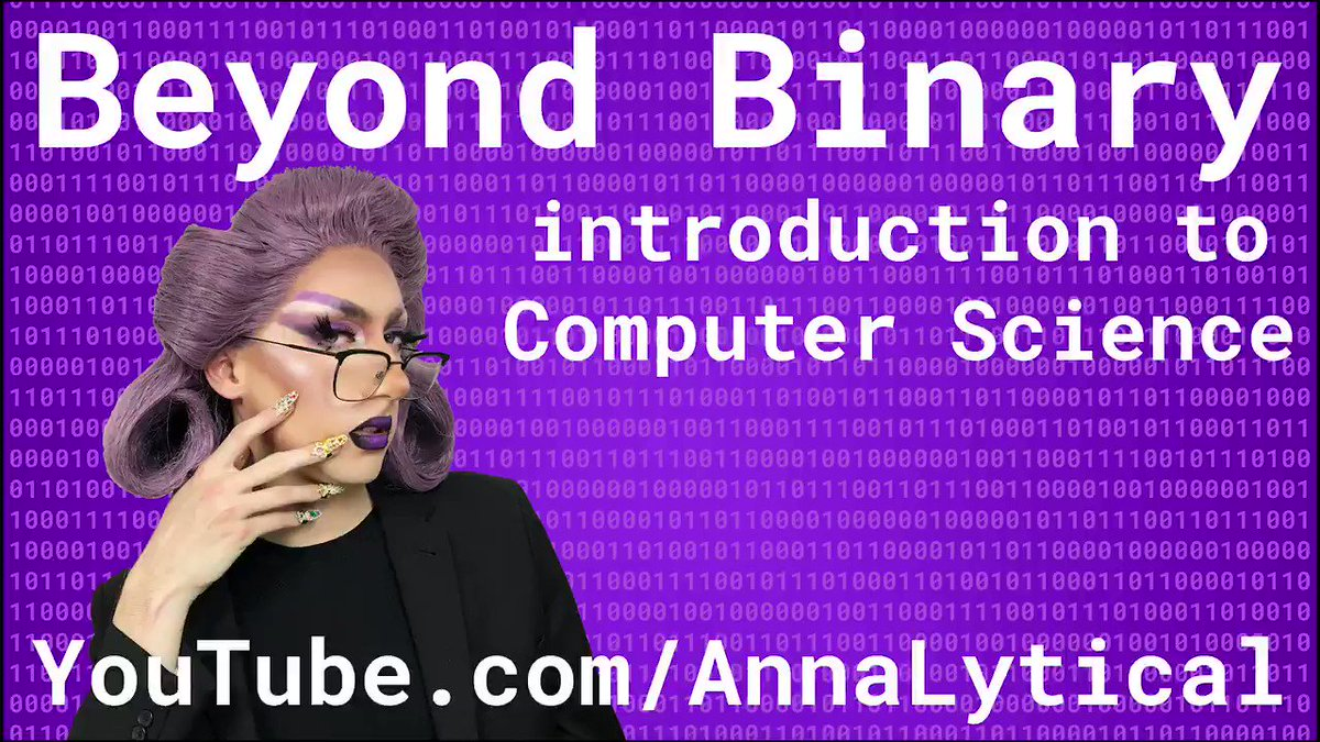 I am so thrilled to launch Beyond Binary 🎉 – my dragged up Introduction to Computer Science 👩🏻💻👸🏻 Check out the trailer and then the full episode: https://youtu.be/7MUErafri48